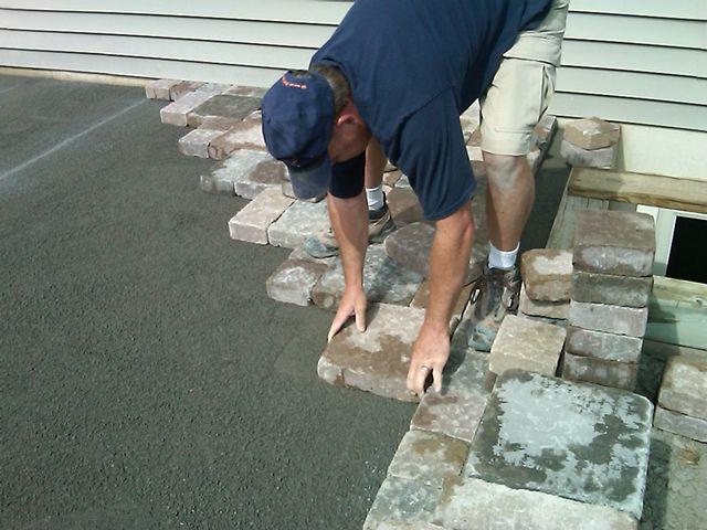 тротуарная плитка укладка на бетон