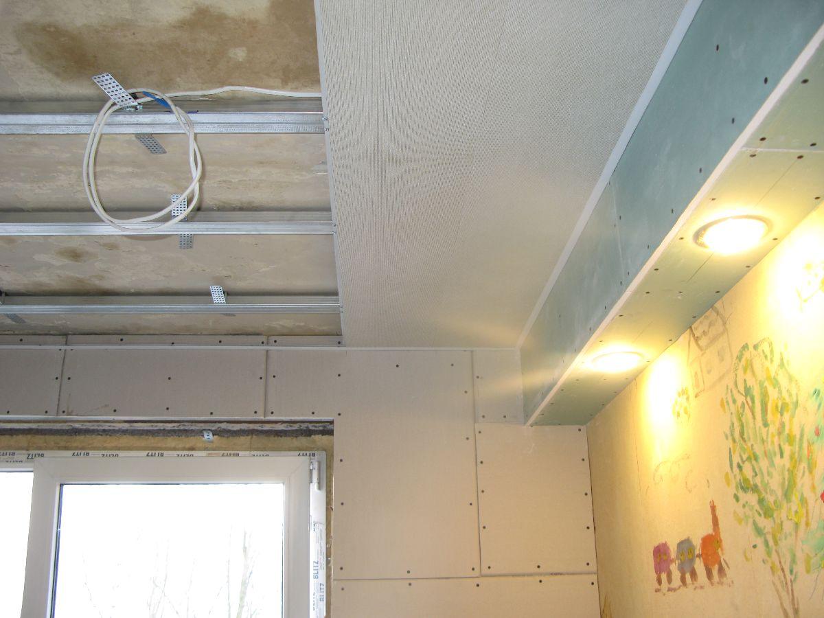 Монтаж пластиковых панелей на потолок кухни своими руками