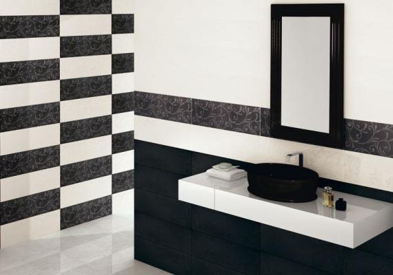 кладки плитки в ванной в шахматном порядке