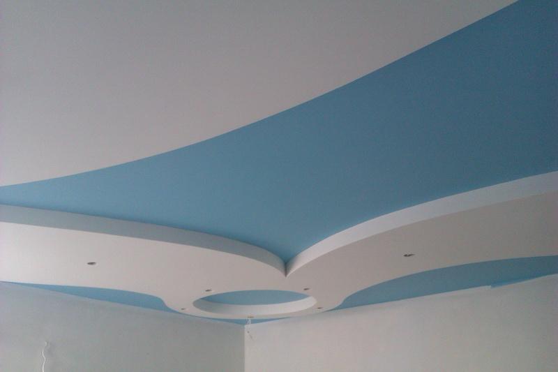 чем покрасить потолок из гипсокартона в комнате