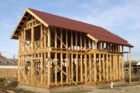 строительство каркасного дома своими руками видео поэтапно