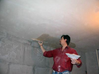 штукатурка шпаклевка потолка