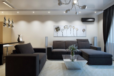 гостиная в трех комнатной квартире