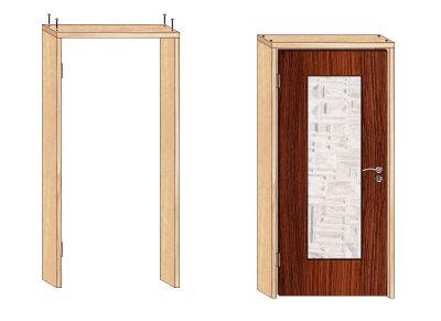 межкомнатные двери с коробкой