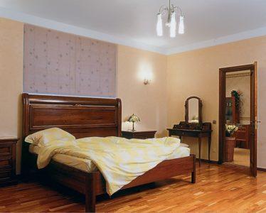 спальни поклеенные обоями в двух цветах